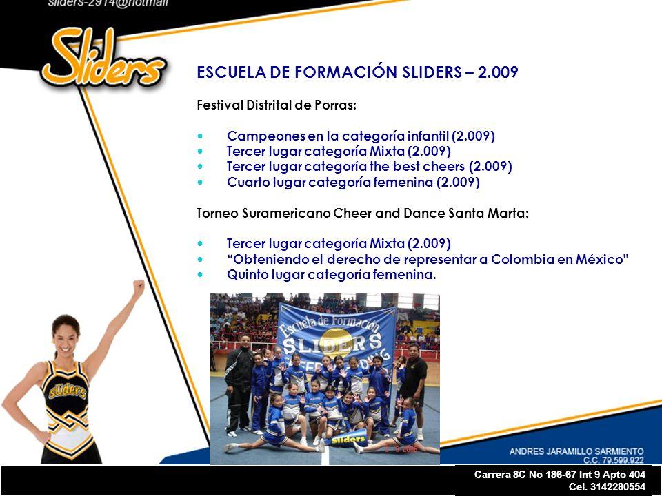 ESCUELA DE FORMACIÓN SLIDERS – 2.009