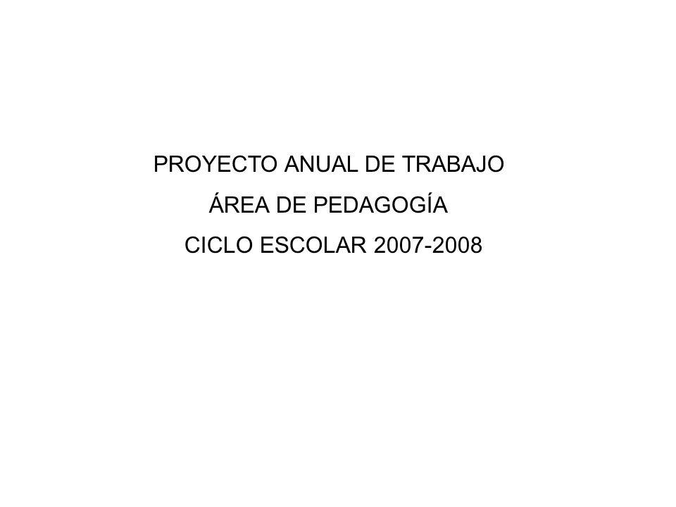 PROYECTO ANUAL DE TRABAJO