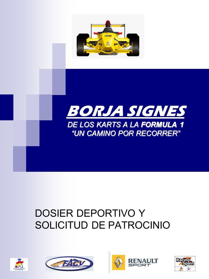 BORJA SIGNES DE LOS KARTS A LA FORMULA 1 UN CAMINO POR RECORRER