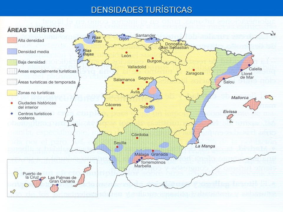 DENSIDADES TURÍSTICAS
