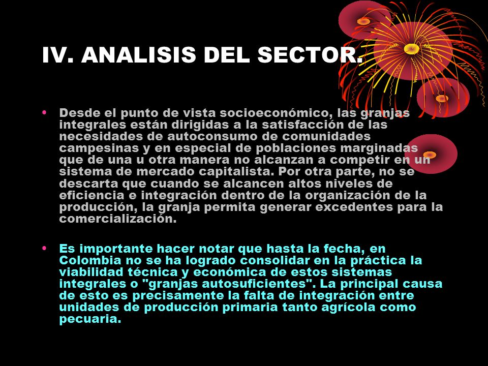 IV. ANALISIS DEL SECTOR.