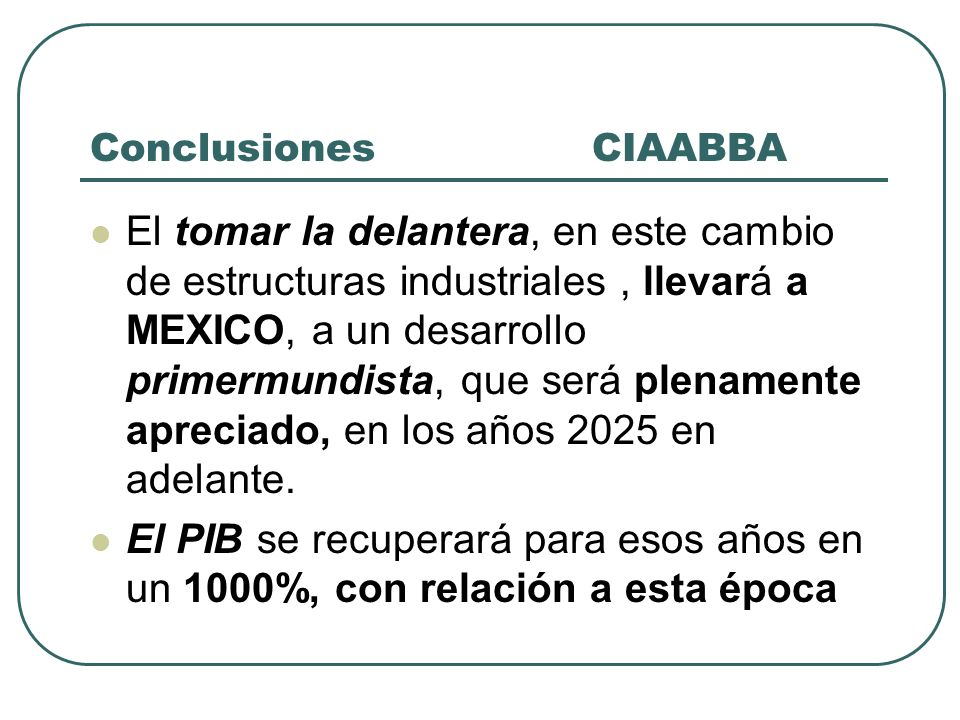 Conclusiones CIAABBA