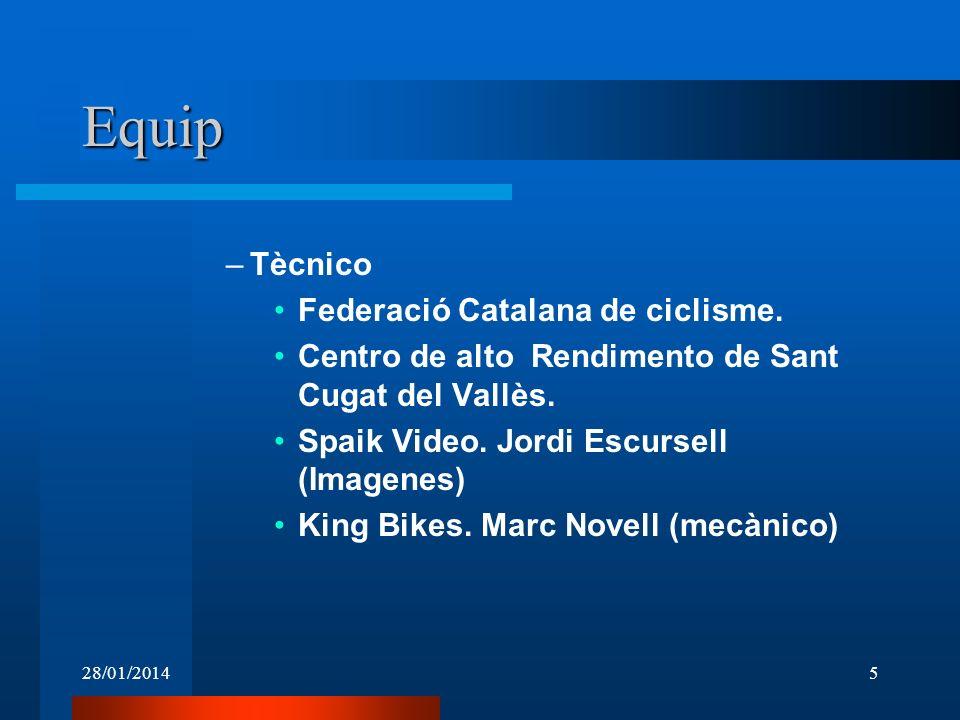 Equip Tècnico Federació Catalana de ciclisme.