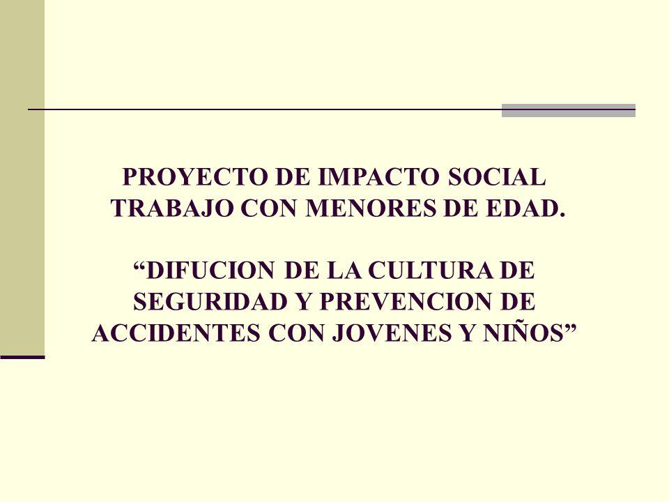 PROYECTO DE IMPACTO SOCIAL TRABAJO CON MENORES DE EDAD