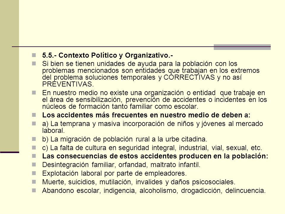5.5.- Contexto Político y Organizativo.-
