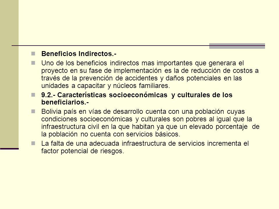 Beneficios Indirectos.-