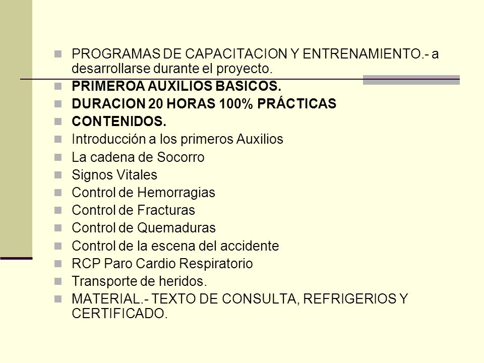 PROGRAMAS DE CAPACITACION Y ENTRENAMIENTO