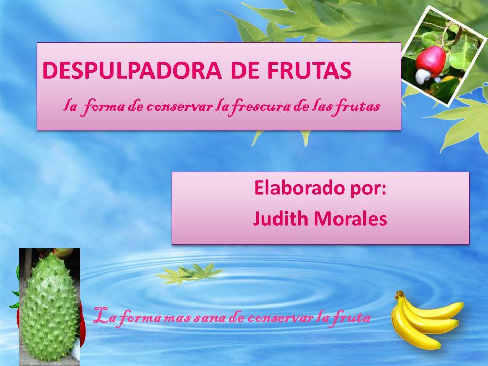 DESPULPADORA DE FRUTAS la forma de conservar la frescura de las frutas