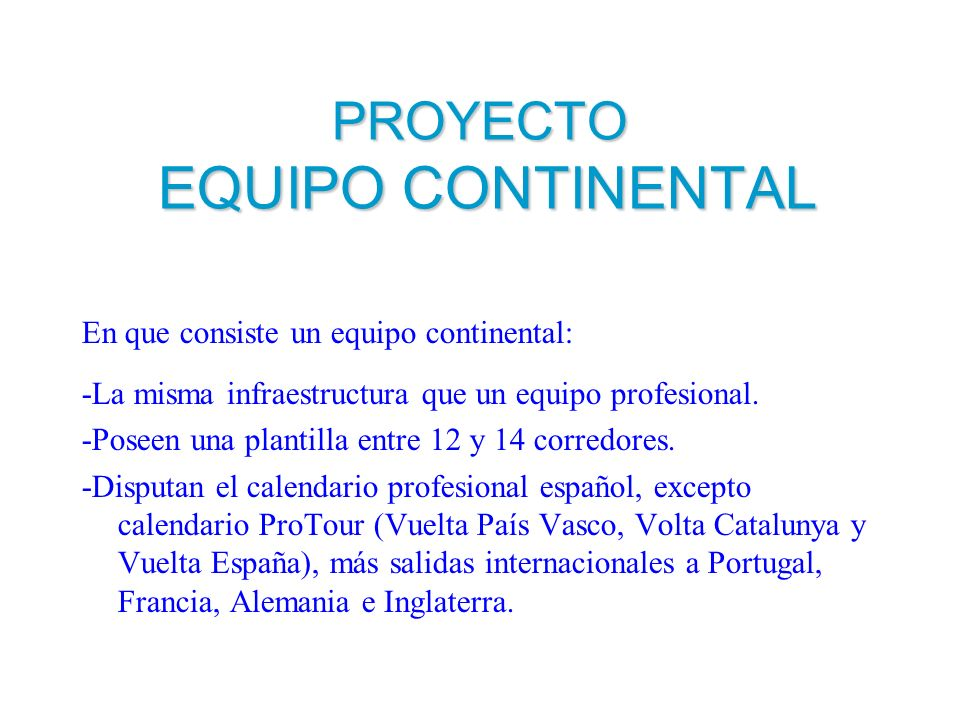 PROYECTO EQUIPO CONTINENTAL