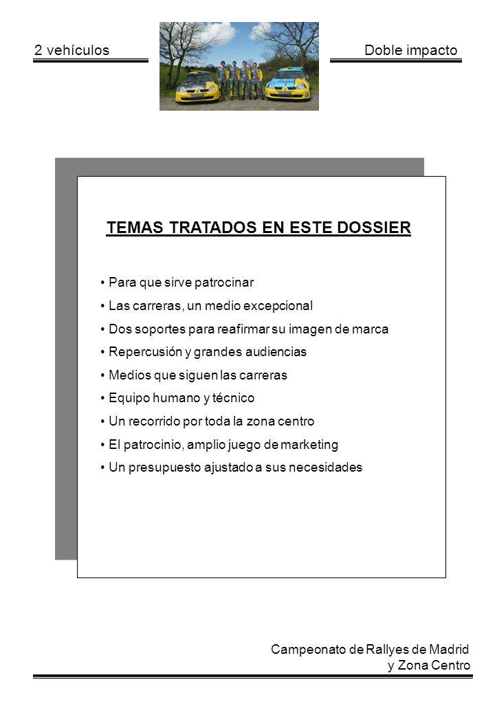 TEMAS TRATADOS EN ESTE DOSSIER