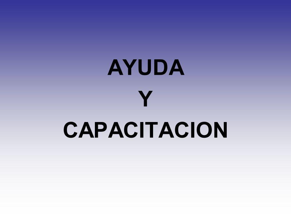 AYUDA Y CAPACITACION