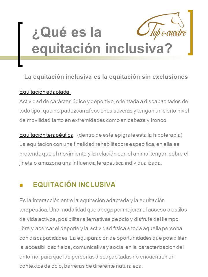 ¿Qué es la equitación inclusiva