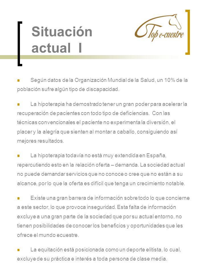 Situación actual ISegún datos de la Organización Mundial de la Salud, un 10% de la. población sufre algún tipo de discapacidad.