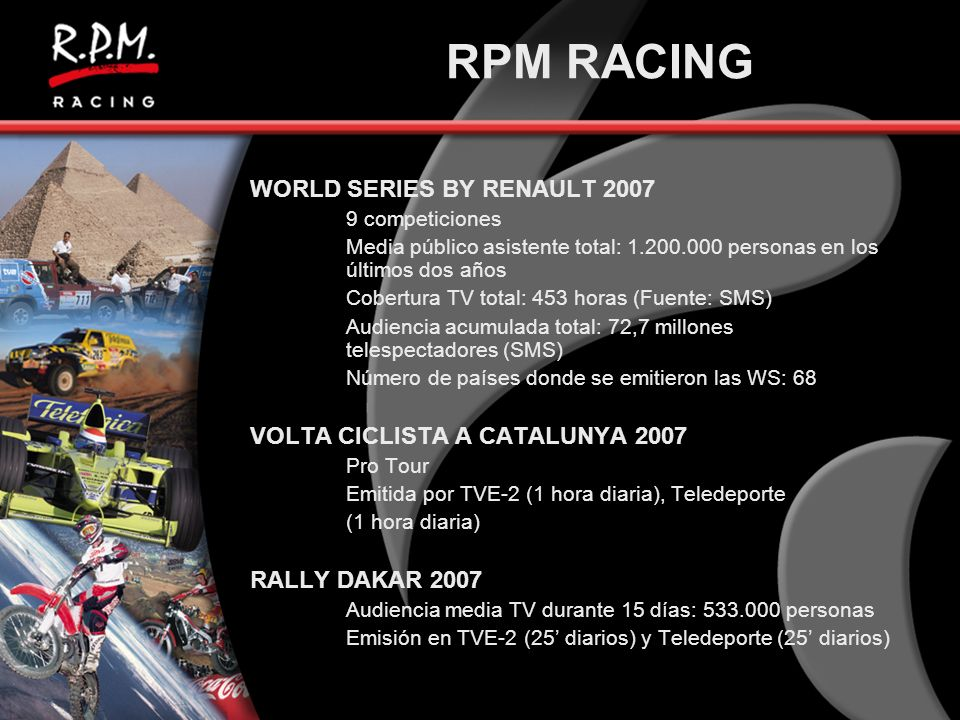RPM RACING WORLD SERIES BY RENAULT 2007