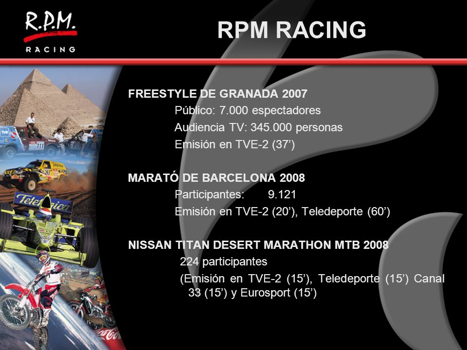 RPM RACING FREESTYLE DE GRANADA 2007 Público: 7.000 espectadores