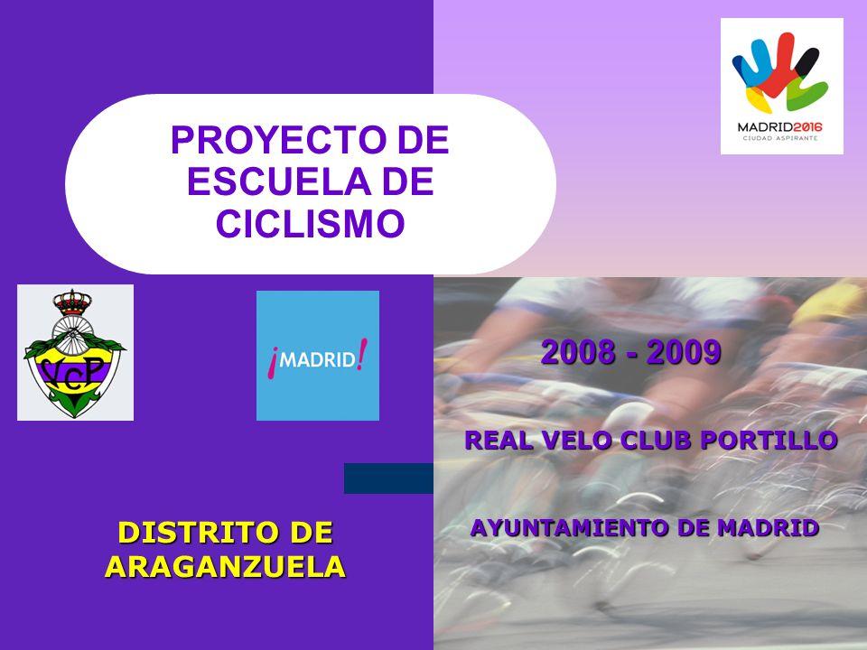 PROYECTO DE ESCUELA DE CICLISMO