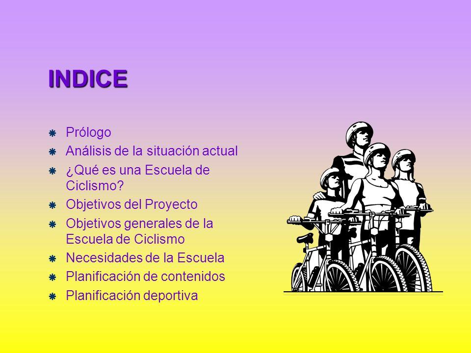 INDICE Prólogo Análisis de la situación actual
