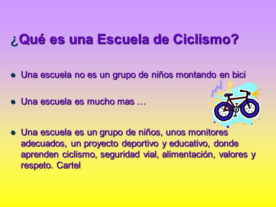 ¿Qué es una Escuela de Ciclismo