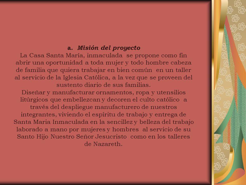a. Misión del proyecto