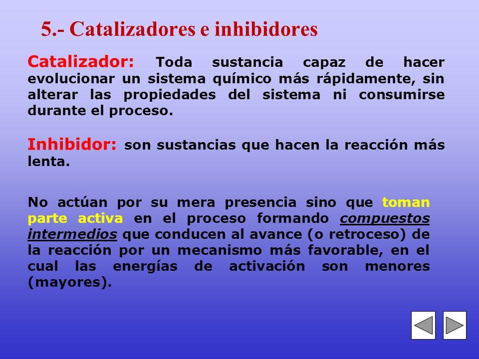 5.- Catalizadores e inhibidores