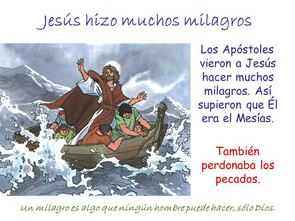 Jesús hizo muchos milagros