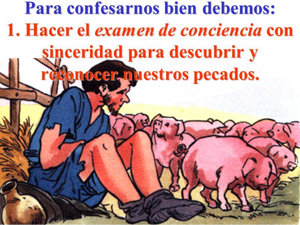 Para confesarnos bien debemos: 1