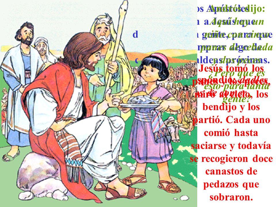 Jesús les respondió: dadles vosotros de comer