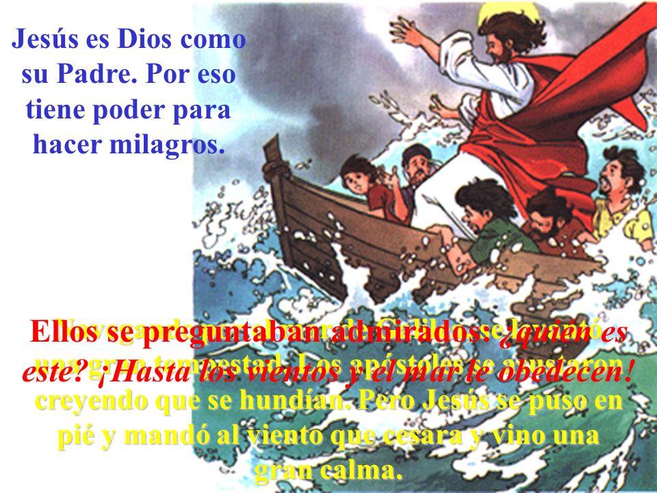 Jesús es Dios como su Padre. Por eso tiene poder para hacer milagros.