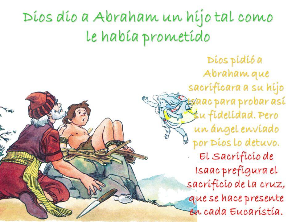 Dios dio a Abraham un hijo tal como le había prometido