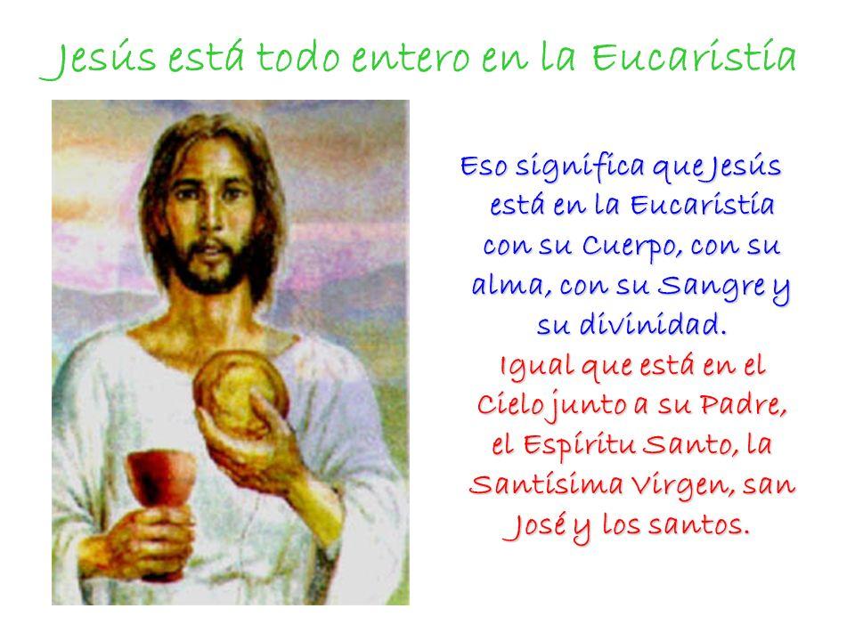 Jesús está todo entero en la Eucaristía