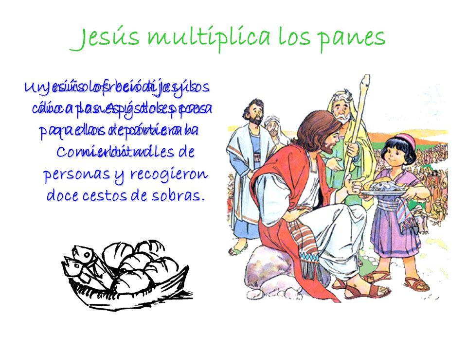 Jesús multiplica los panes