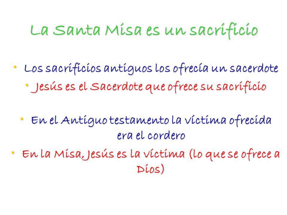 La Santa Misa es un sacrificio