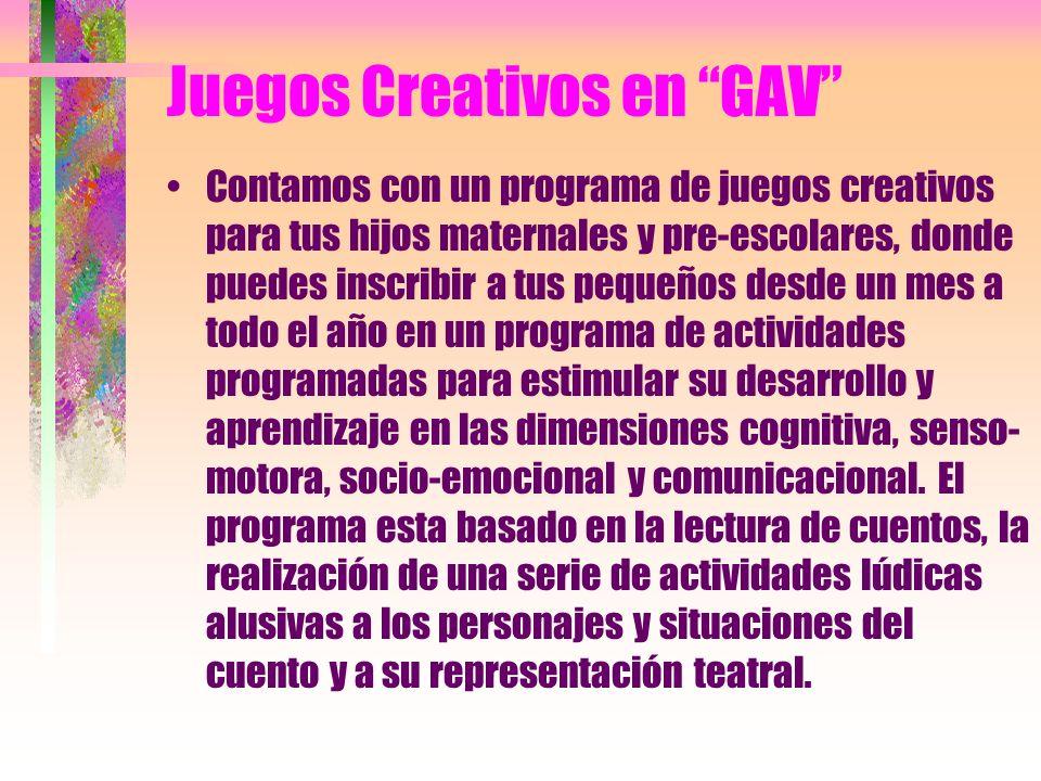 Juegos Creativos en GAV
