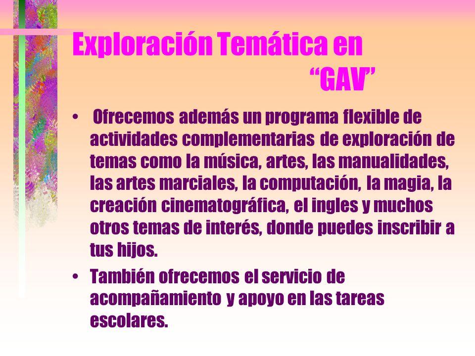 Exploración Temática en GAV