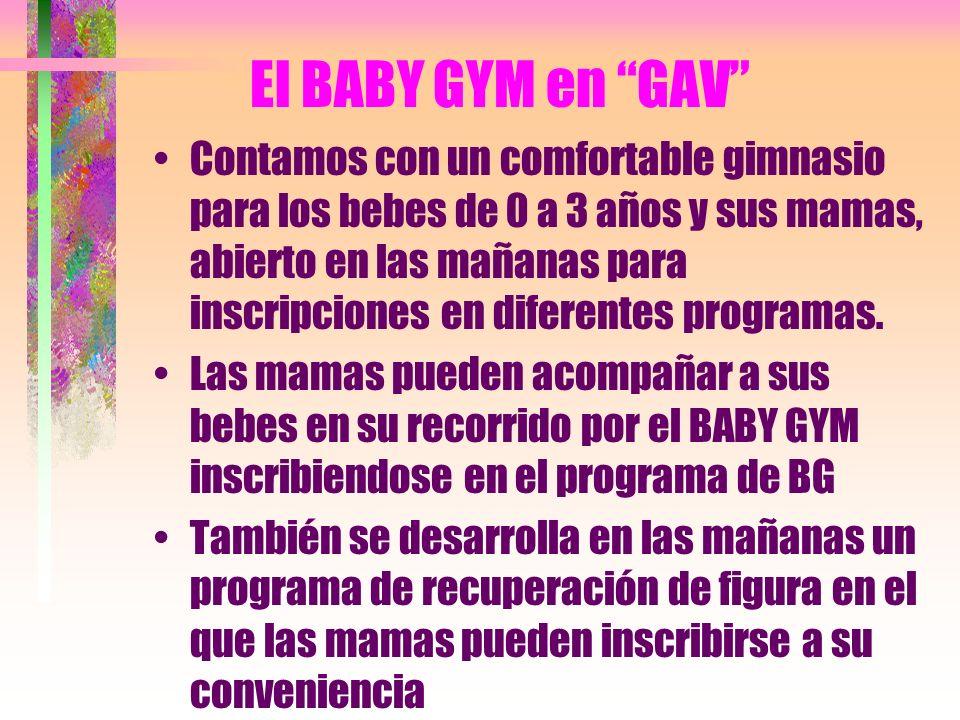 El BABY GYM en GAV