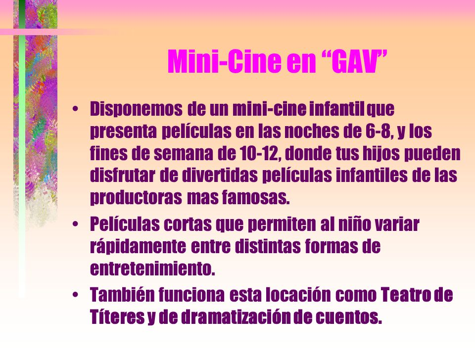 Mini-Cine en GAV