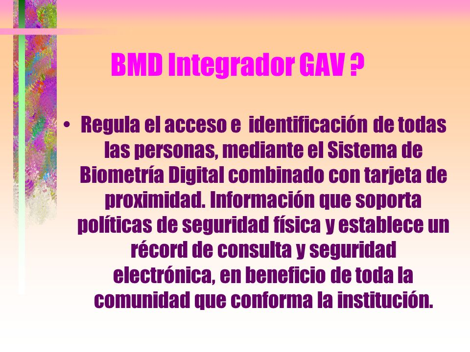 BMD Integrador GAV