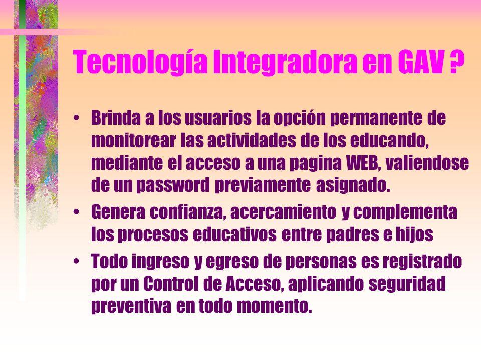 Tecnología Integradora en GAV