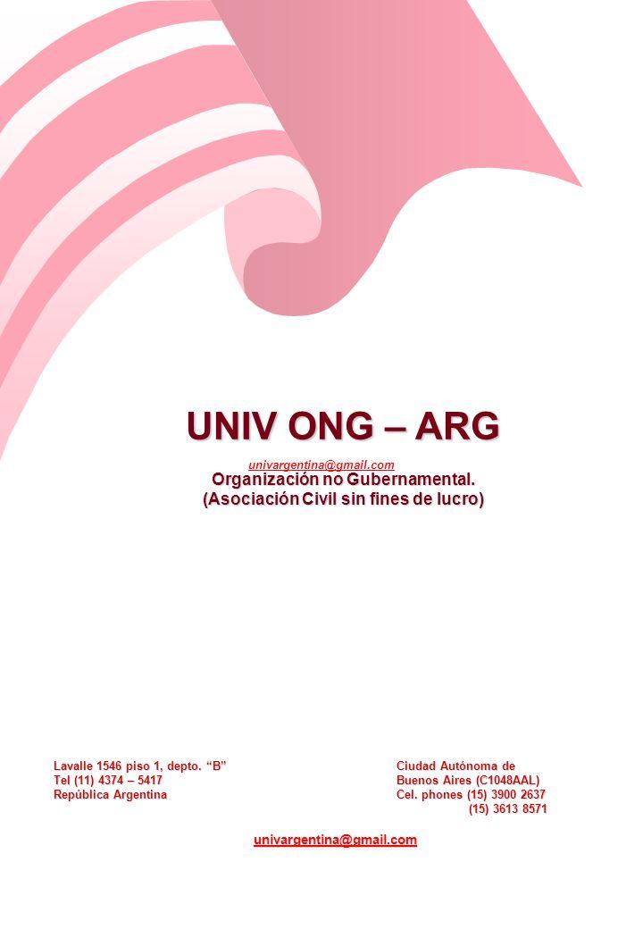 UNIV ONG – ARG Organización no Gubernamental