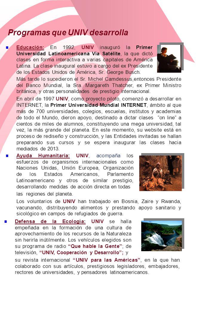 Programas que UNIV desarrolla