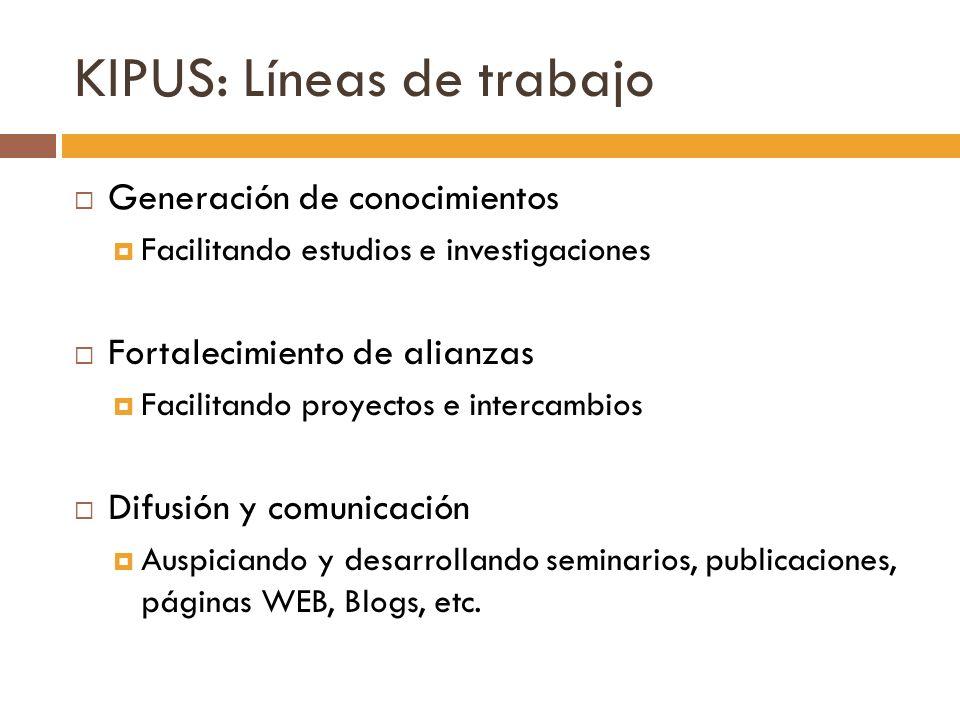 KIPUS: Líneas de trabajo