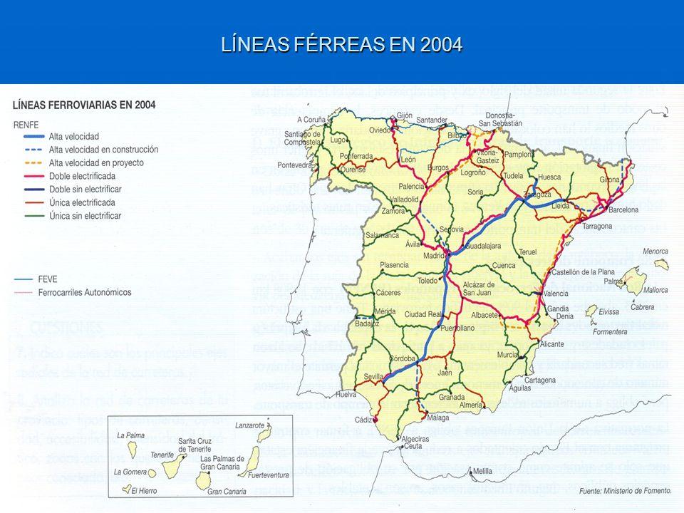 LÍNEAS FÉRREAS EN 2004