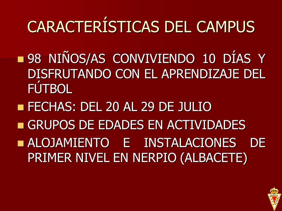 CARACTERÍSTICAS DEL CAMPUS