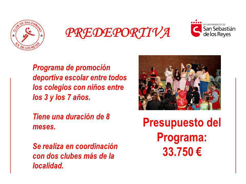 Presupuesto del Programa: