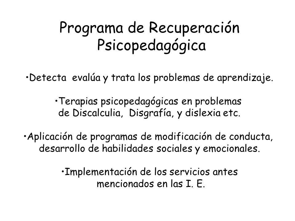 Programa de Recuperación Psicopedagógica