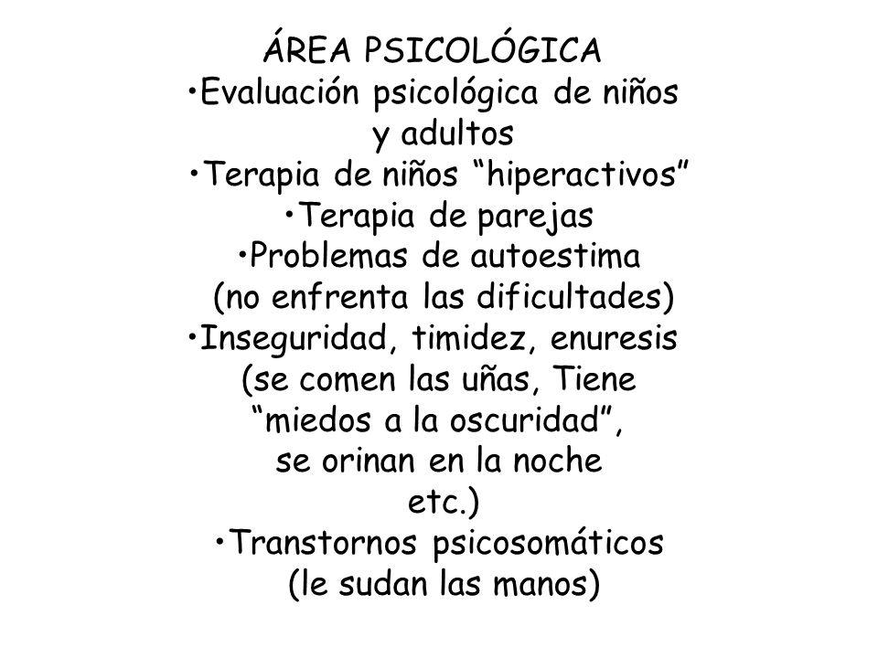 Evaluación psicológica de niños y adultos