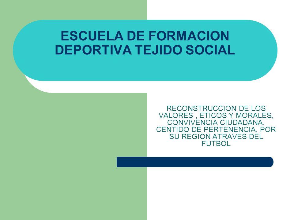 ESCUELA DE FORMACION DEPORTIVA TEJIDO SOCIAL