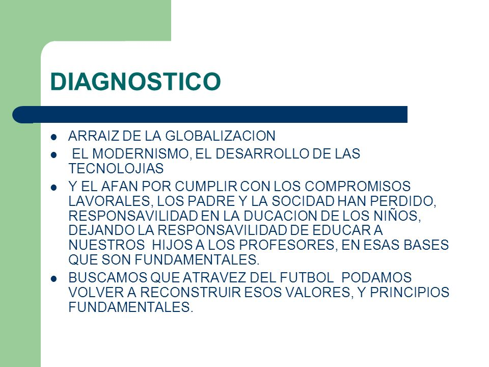 DIAGNOSTICO ARRAIZ DE LA GLOBALIZACION