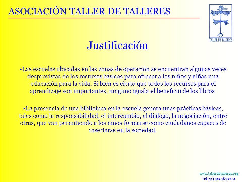 Justificación ASOCIACIÓN TALLER DE TALLERES