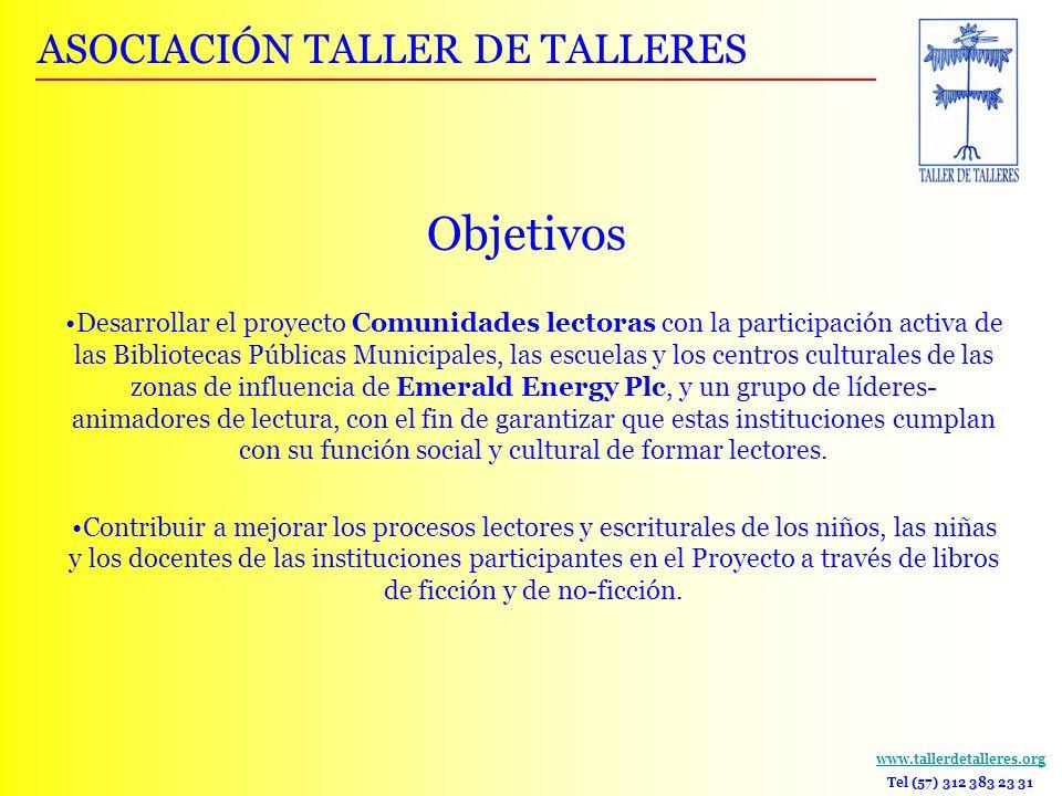Objetivos ASOCIACIÓN TALLER DE TALLERES